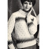 Aztec Striped Knitted Pullover Pattern, Vintage 1960s
