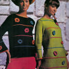 Vintage Knitted Dress Pattern with Flowers