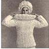 Vintage Rich Boy Sweater Cap pattern on Big Needles