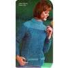 Two Tone Knitted Pullover Pattern with Turtleneck