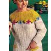 Knitting Pattern, Contrast Yoke Pullover