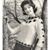 Vintage Knit Pullover Pattern with Diamond Motif