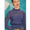 Sport Pullover Pattern Knit Dawn Nylon Yarn