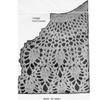 Pineapple Cape Crochet pattern Stitch Illustration, Design 716