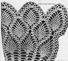 Pineapple Cape Crochet pattern detail