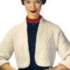 Vintage Crochet Shrug Pattern with elbow length sleeves