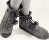 Vintage Crochet Boots Pattern with pompom ties from Vintage Knit Crochet Pattern Shop