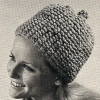 Puff Stitch Knitted Stocking Cap Pattern from Coats & Clarks