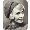 Beginners Crochet Hat Pattern, Vintage 1950s
