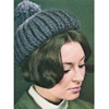 Chunky Beanie Hat Knitting Pattern with Pompom