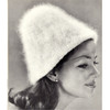 Knit Angora Cap Pattern, Vintage 1950s