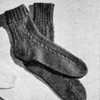 Knitted Cable Clock Ankle Socks Pattern