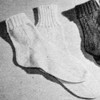 Cable Clock and Striped Anklet Socks Pattern