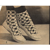 High Top Slippers Free Knitting Pattern, Vintage 1950s