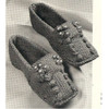 Knit Popcorn Stitch Slippers Pattern
