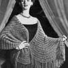 Vintage Knit Chenille Stole Pattern