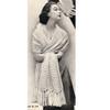 Vintage Feather Fan Stole Knitting Pattern
