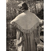 Vintage Fringed Triangle Stole Knitting Pattern