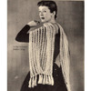 Knitted Mesh Lace Stole Pattern from Wyco
