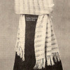Vintage Knitted Stole Pattern by Wyco