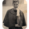 Vintage Collared Cape Knitting Pattern