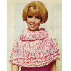 Big Needle Knit Capelet Pattern with roll collar