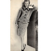 Knitted French Tweed Suit Pattern with Contrast Trim