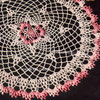 Vintage Crochet Shaded Pink Doily Pattern
