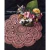 Pineapple Shell Crochet Doily Pattern in Pink Thread