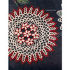 Crochet Daisy Doily Pattern in Red White