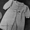 Vintage 1940's Crochet Baby Jacket Pattern