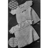 Vintage Crochet Baby Dress Patterns in Nylon Yarn