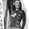 Snowflake Knitted Cardigan Pattern, Vintage 1940s
