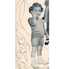 Toddler Knitted Suit Pattern, Striped Top, Shorts