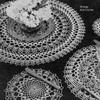 Frilly Crochet Doily Set Pattern, Vintage 1940