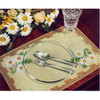 Daisy Crochet Placemats Pattern with Linen Center