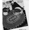 Oval Crocheted Doily Pattern, bordered in spiderweb Lace