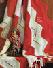 Easy knitted stripe afghan pattern No 742-10
