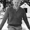 Vintage 1950's Mans Knitted Pullover Pattern, Rib Stitch