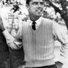 Vintage Mans Knit Sleeveless Pullover Pattern