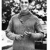 Mens Knit Pullover Pattern, Buttoned Yoke