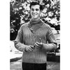 Knitted Yoked Pullover Pattern No 4028