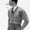Vintage Mans Chevron Sweater Pattern