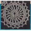 Round Wheel Crochet Medallion Pattern, Vintage 1950s