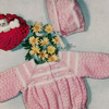 Knitted Baby Girl Jacket Bonnet Pattern
