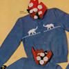 Childs Buttoned Cardigan Knitting Pattern