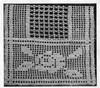 Workbasket Filet Crocheted Scarf Pattern