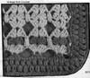 Shell afghan crochet pattern illustration, Design 7040