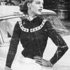 Vintage Cardigan Knitting Pattern, Patterned Yoke in Nomotta Sports Yarn