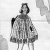 Crocheted Shell Stitch Cape pattern Design 7289